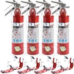 4X 2.5 Lb Fire Extinguisher ABC Dry Chemical Rechargeable DO