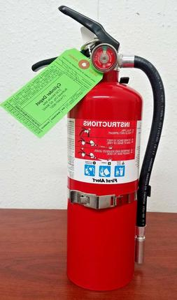 5lb Fire Extinguisher ABC Dry Chemical Rechargeable First Al