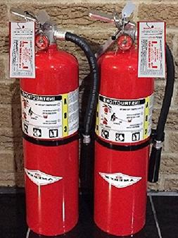 Amerex 10 Lb. Type ABC Dry Chemical Fire Extinguishers, wit