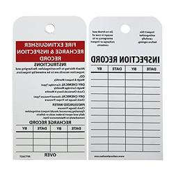 """NMC RPT26ST Tags, """"FIRE EXTINGUISHER RECHARGE & INSPECTION"""