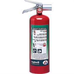 Badger Extra 5 lb Halotron I Extinguisher w/ Wall Hook 24567
