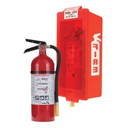 Kidde Fire Extinguisher with Cabinet, Red Tub/Red Cover