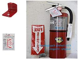 Fire Extinguisher, 4A:80B:C, 10 lb., 21in.H