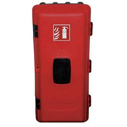 Fire Extinguisher Cabinet,10 lb,Blk/Red JEBE06