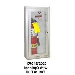Jl Industries Fire Extinguisher Cabinet Aluminum, Semi-Rec,