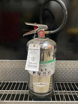 FIRE EXTINGUISHER CLASS K 6 LITER IN GOOD CONDITION W/ WALL