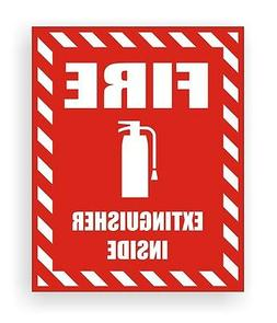 Fire Extinguisher Inside Safety Decal / Sticker Industrial S
