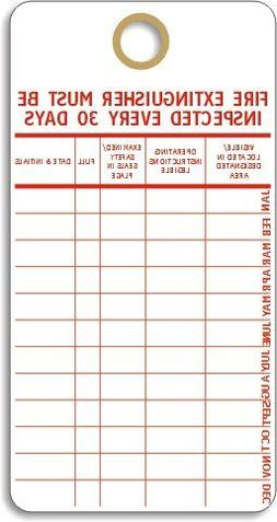 """Fire Extinguisher Monthly Maintenance Tags By SmartSign 
