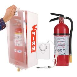Kidde Fire Extinguisher with Cabinet, White Tub/Clear Cover,