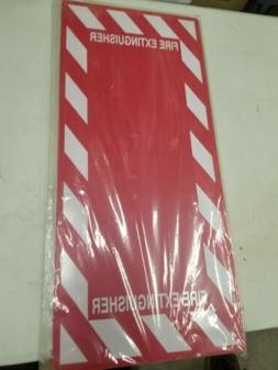 fire extinguisher sign 29 x 13in red