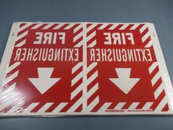 fire extinguisher signs 96908 new