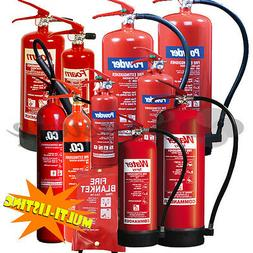 FIRE EXTINGUISHERS - DRY POWDER ABC, FOAM ,CO2 & WATER *ALL