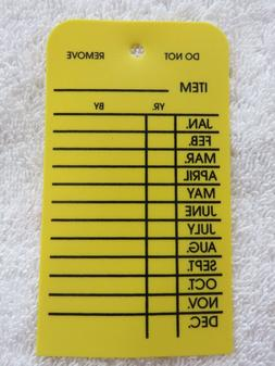 H. D. PLASTIC MONTHLY INSPECTION TAGS.2 1/2 X 4 1/8-FIRE EXT