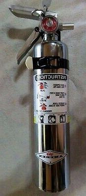"""2 1/2 lb.  """"CHROME"""" BC FIRE EXTINGUISHER NEW  CERTIFIED IN B"""