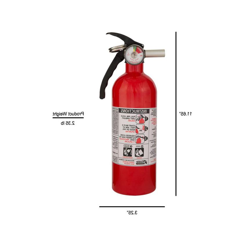 Small Emergency Fire Extinguisher Rated 5B:C