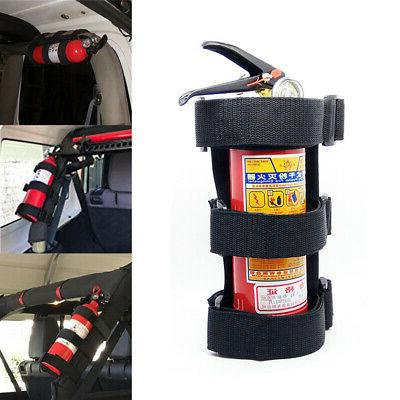 Adjustable Car Roll Bar Fire Extinguisher Holder Mount Safet