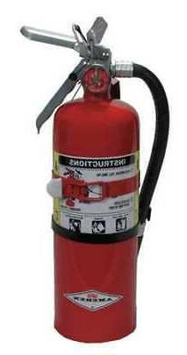 Fire Extinguisher, 5 lb. Capacity, Dry Chemical, B402T, Amer