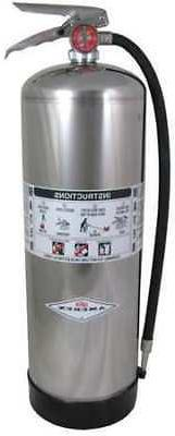 AMEREX 240 Fire Extinguisher, 2A, Water, 2-1/2 gal.
