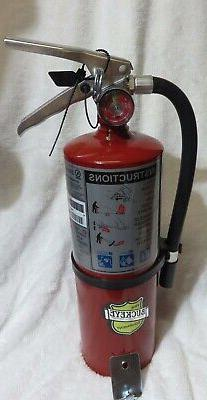 "ONE-NEW 2020 ""BUCKEYE"" 5-LB ABC FIRE EXTINGUISHER WITH WALL"
