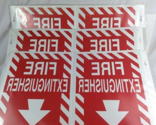 qty 3 v fire extinguisher signs 96908