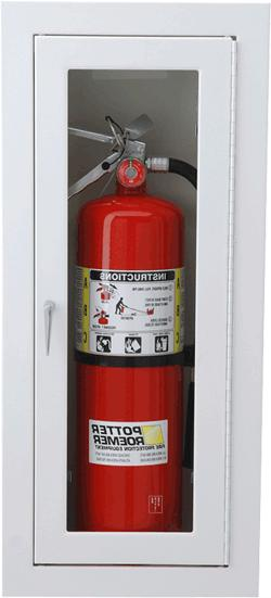 Potter Roemer Semi-Recessed Alta Fire Extinguisher Cabinet