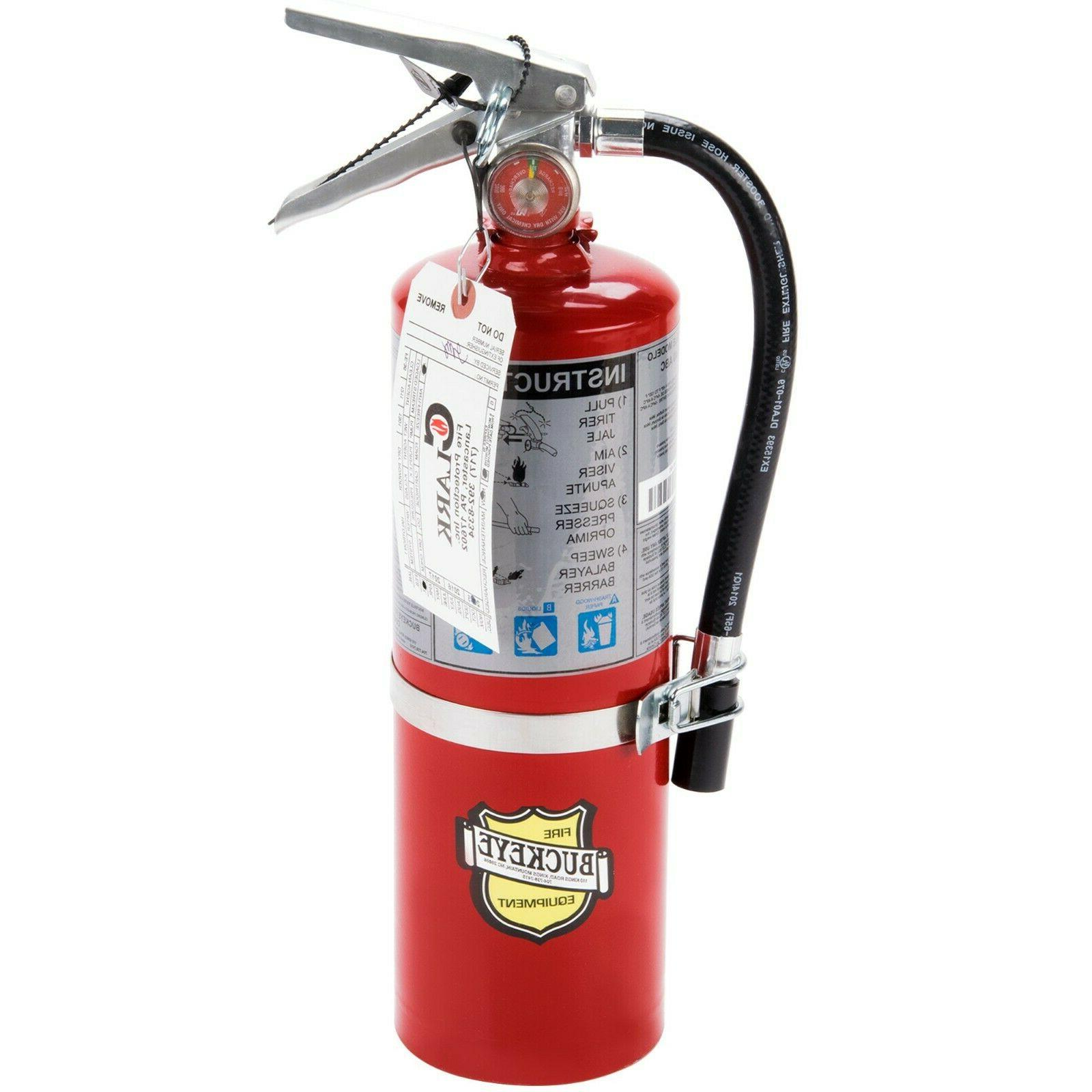 vehicle fire extinguisher class abc rechargeable tagged