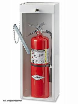 Metal Locking Fire Extinguisher Cabinet 10 lb  New Uline #H-