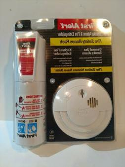 NEW 1ST FIRST ALERT SMOKE DETECTOR ALARM & FIRE EXTINGUISHER