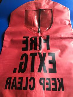 """RED FIRE EXTINGUISHER COVER for 5lb-20lb Extinguisher 20"""" x"""