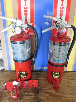"TWO NEW 2018- ""BUCKEYE"" 5-LB ABC FIRE EXTINGUISHERS WITH WAL"