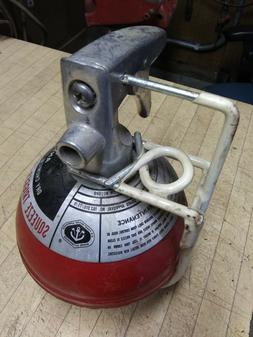 VINTAGE ANSUL M2-1/2 FIRE EXTINGUISHER BALL with Bracket Exc
